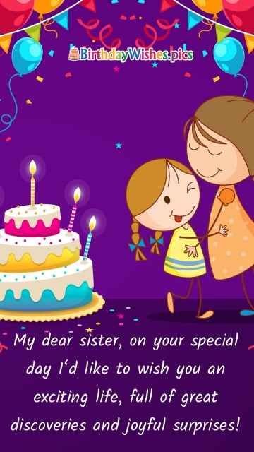 Best Birthday Wishes Quotes For Sister