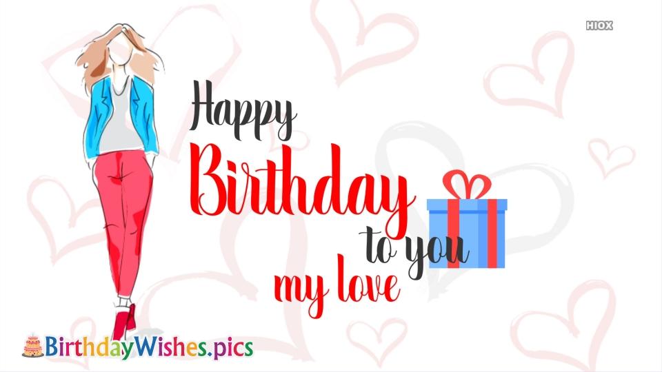 Happy Birthday My Love Greetings