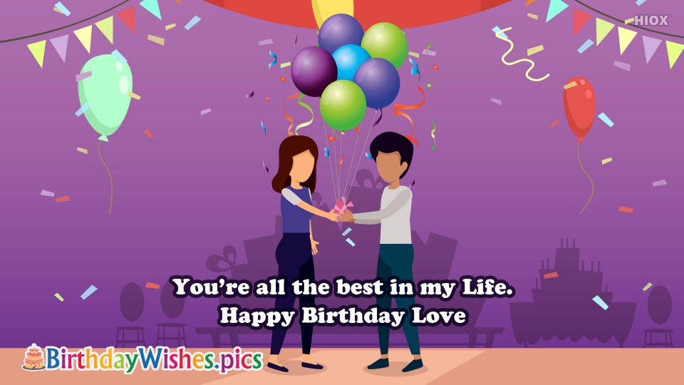 Birthday Wishes Images for Love Status