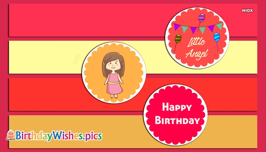 Cute Birthday Wishes For Little Girl