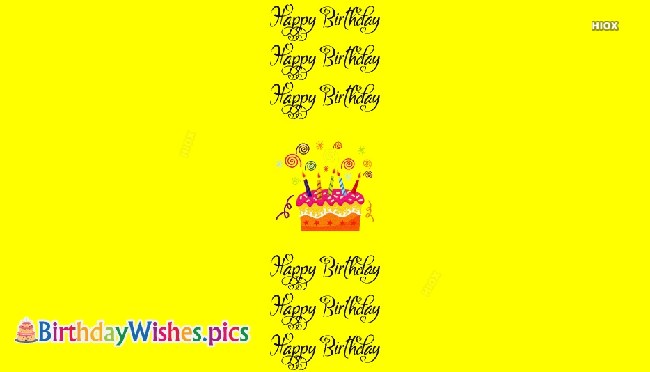 Happy Birthday Cards, Images In Yellow Background