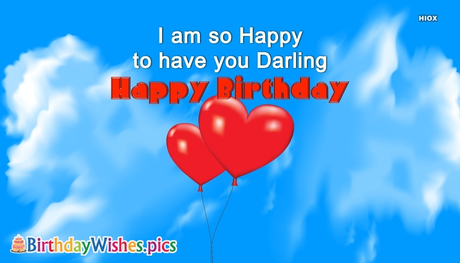 Birthday Wishes For Darling | Happy Birthday Darling Images