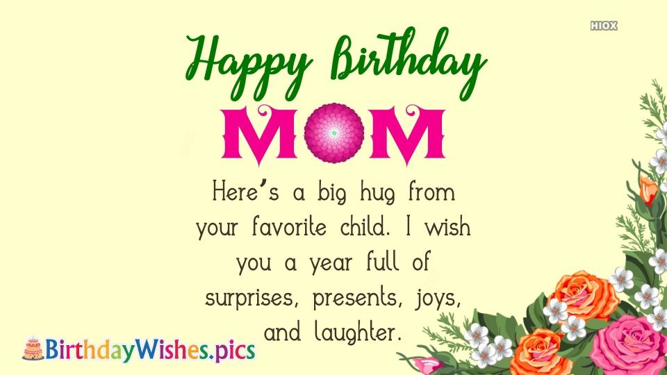 Birthday Wishes To Mom