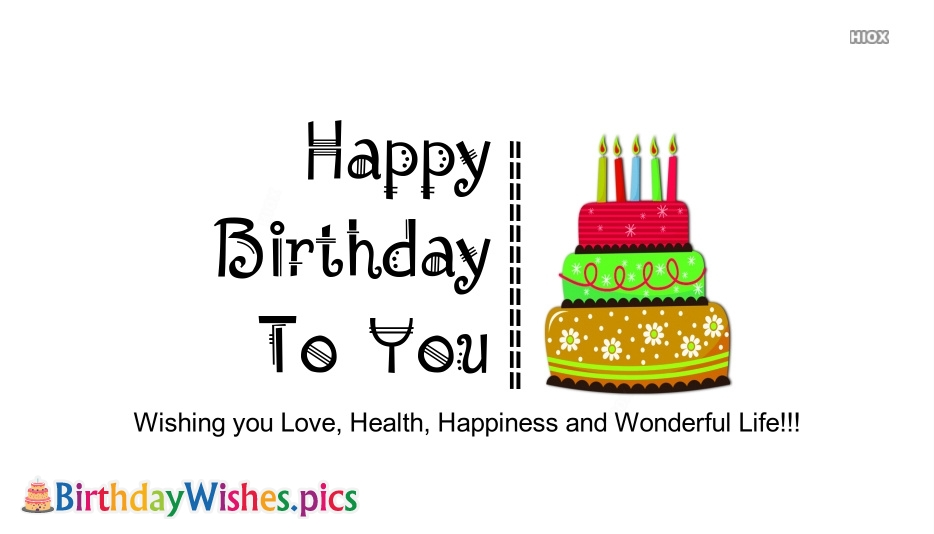Birthday Wishes Unique Quote