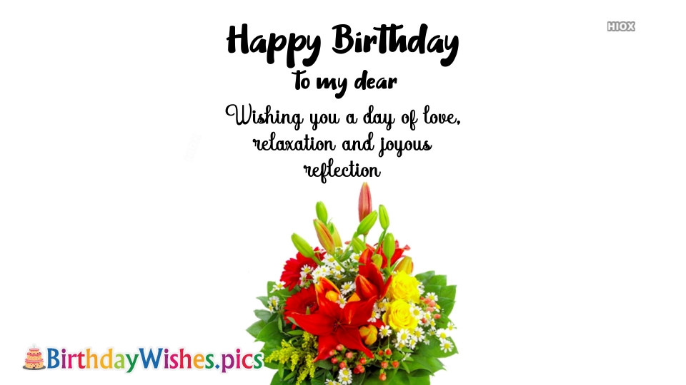 Birthday Wishes With Flowers