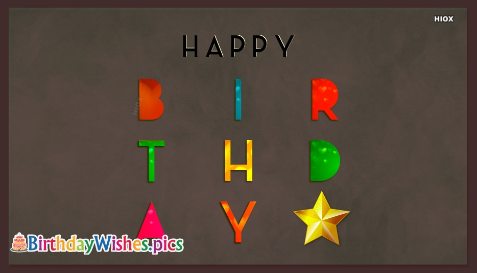 Birthday Wishes, Images In Words