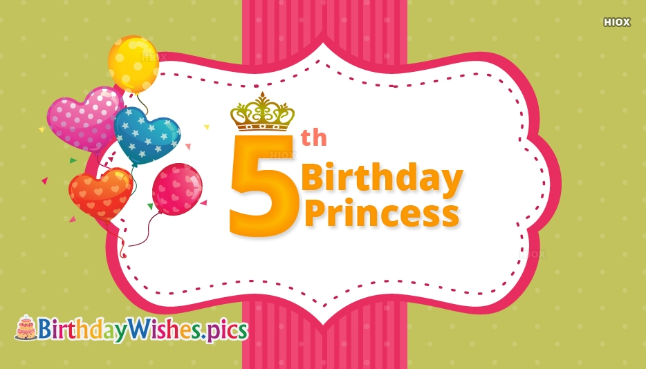 Best Birthday Wishes For Princess