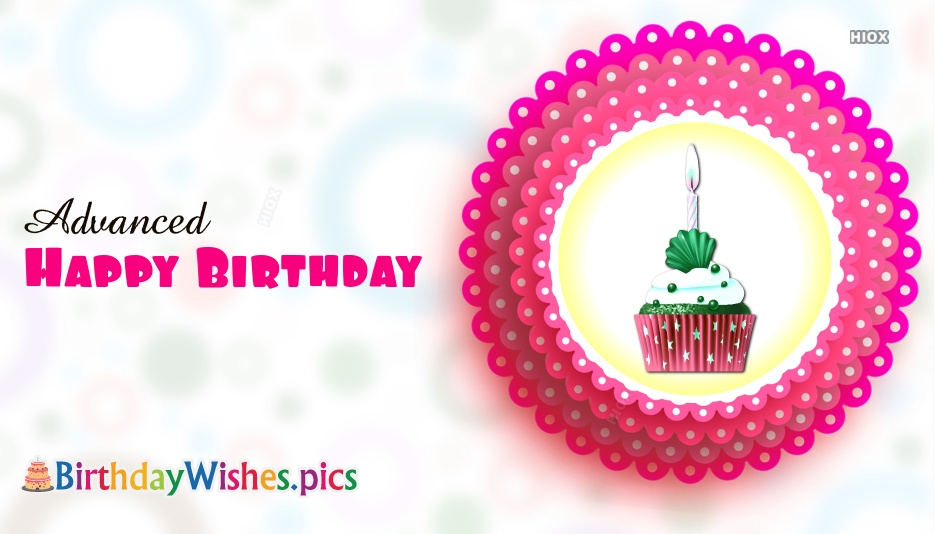 Birthday Wishes Images In Advance