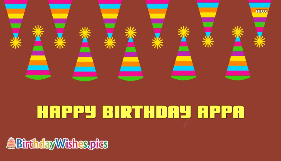 Happy Birthday Wishes Images For Appa
