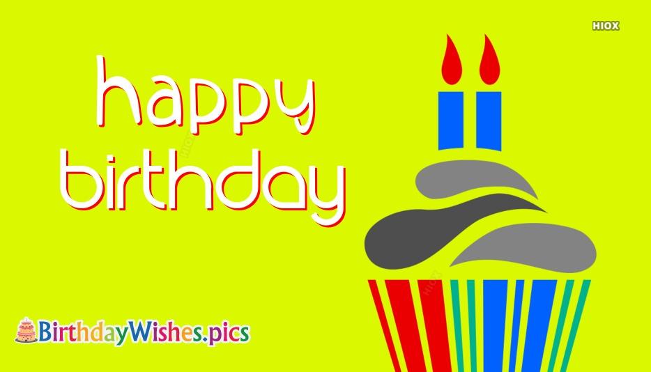 Happy Birthday Cupcake Drawing