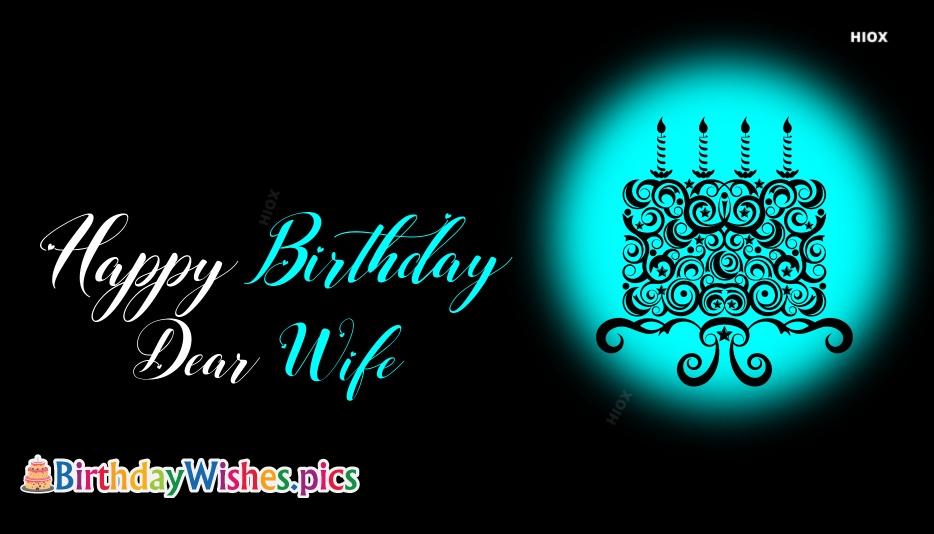 Happy Birthday Dear Wife Gif