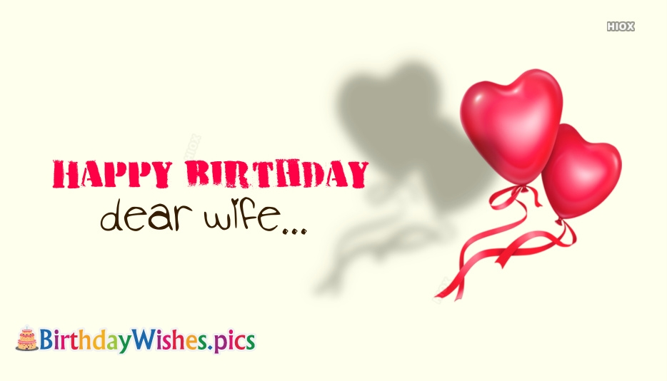 Happy Birthday Dear Wife Images