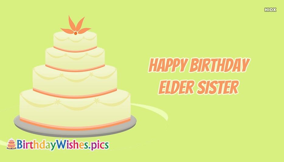 Happy Birthday Elder Sister
