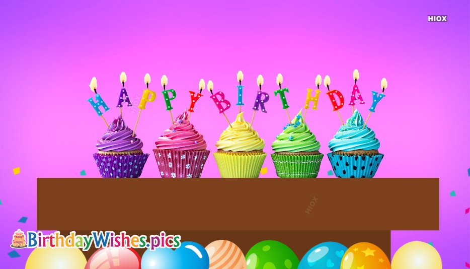 Birthday Wishes Images for Cupcake