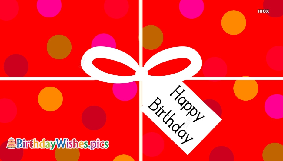 Birthday Wishes On Red Background