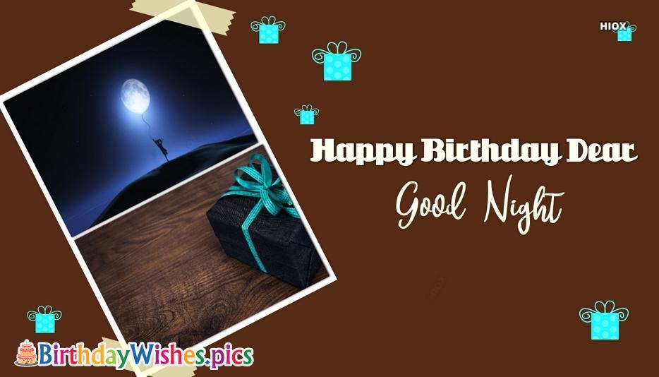 Happy Birthday Good Night Wishes