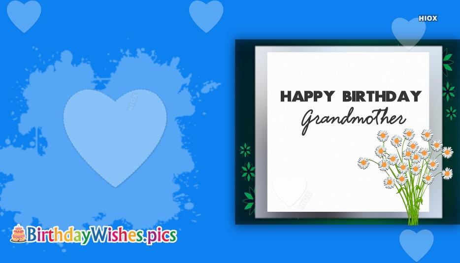 Happy Birthday Grandmother