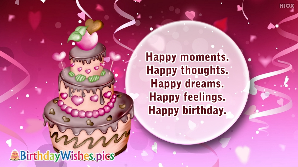 Birthday Wishes Images for Happy Thoughts