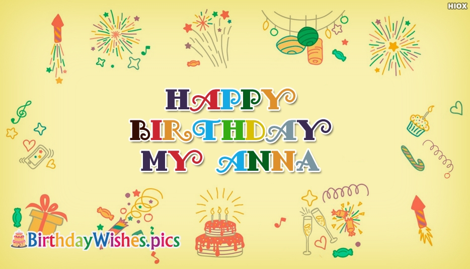 Happy Birthday My Anna - Birthday Wishes Images for Brother