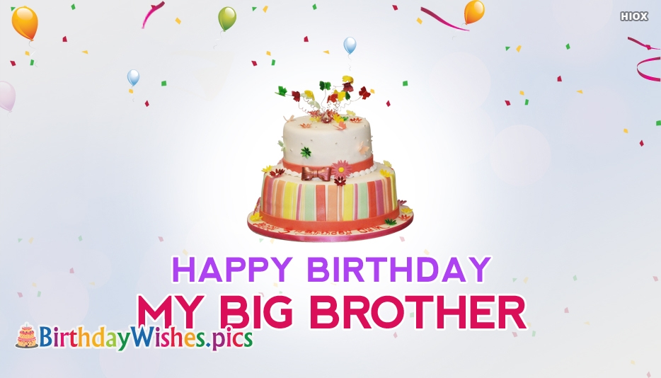 Happy Birthday My Big Brother - Birthday Wishes for Big Brother