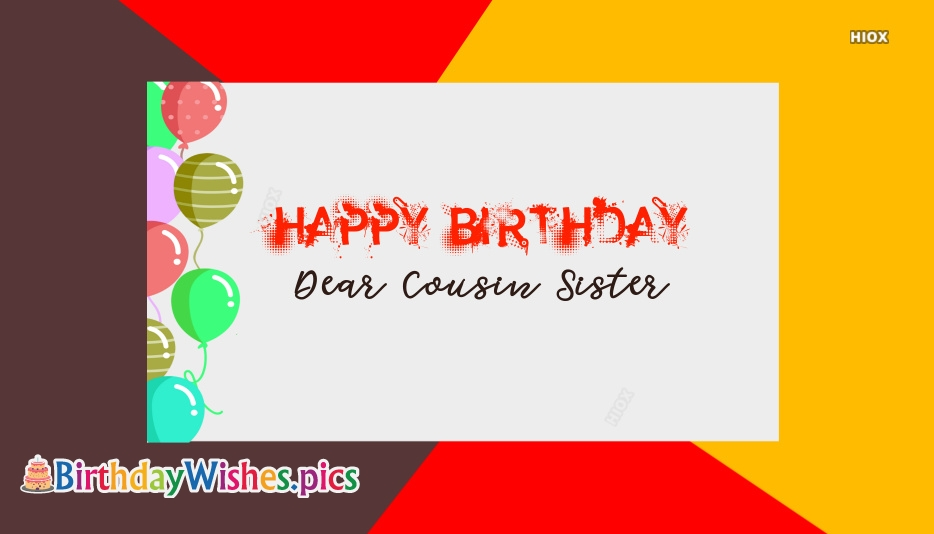 Happy Birthday My Cousin Sister