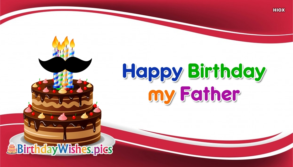 Happy Birthday Wishes For Father Images