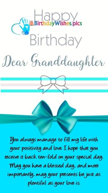 Happy Birthday My Granddaughter