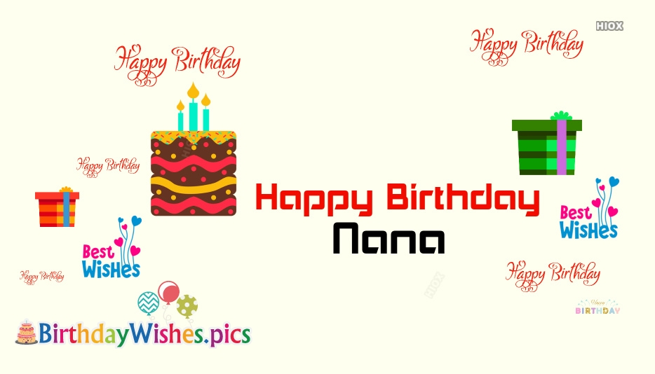 Happy Birthday Nana