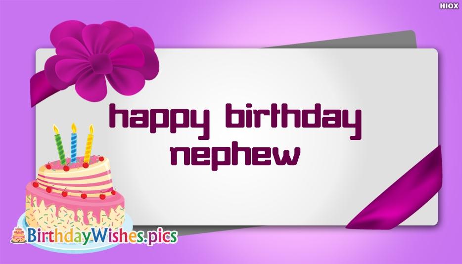 happy birthday nephew status