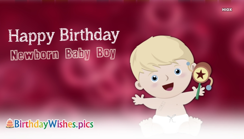 Happy Birthday Images For New Born Baby