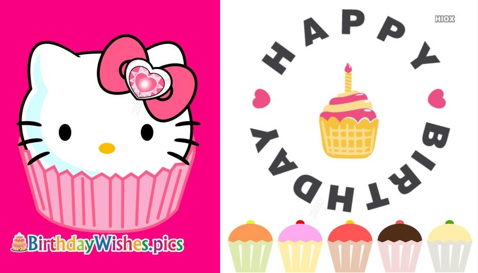 Happy Birthday Cupcake Design