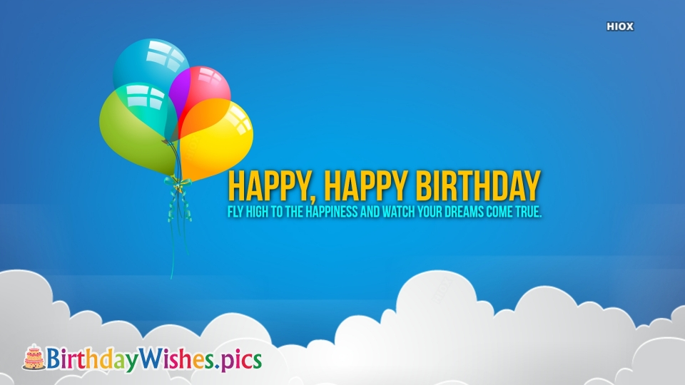 Birthday Wishes Images for Blue Background