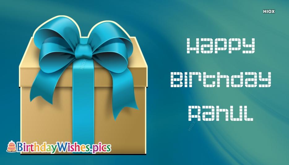 Happy Birthday Rahul