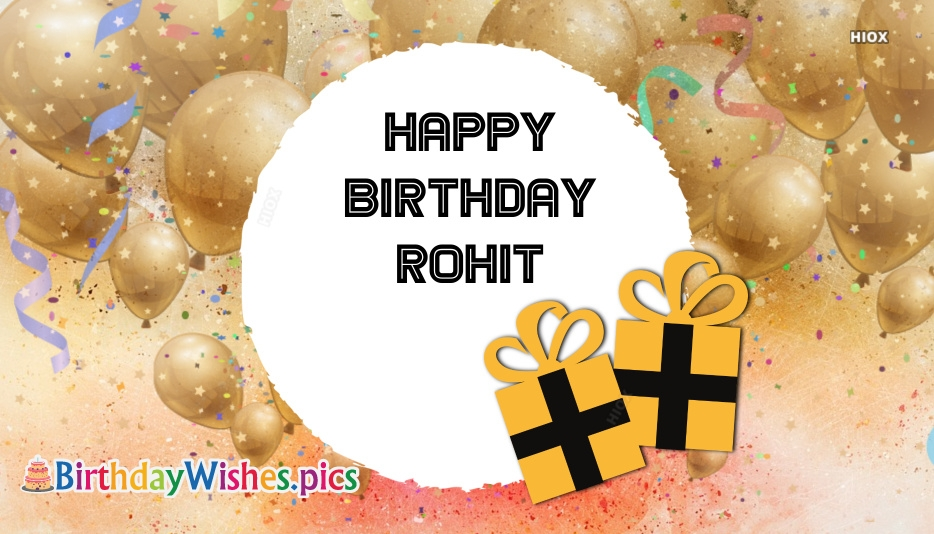 Happy Birthday Rohit