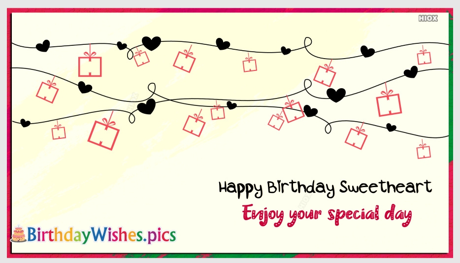Happy Birthday Sweetheart Images With Quotes
