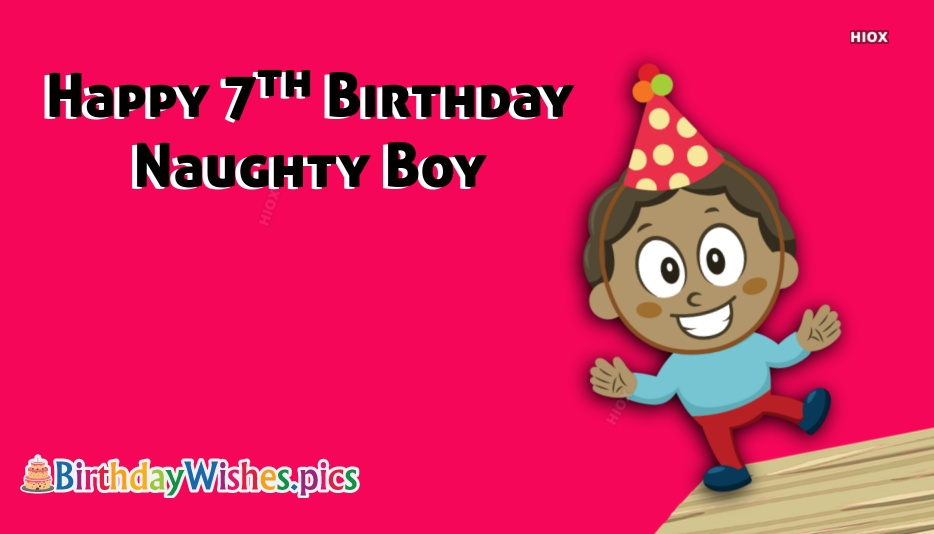 Happy Birthday To 7 Year Old Boy