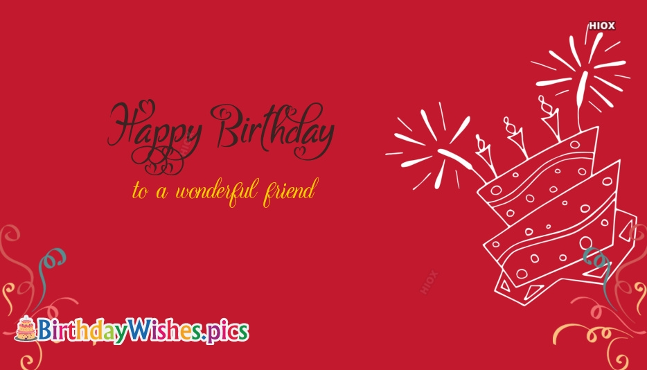 Birthday Wishes Images for Wonderful Friend