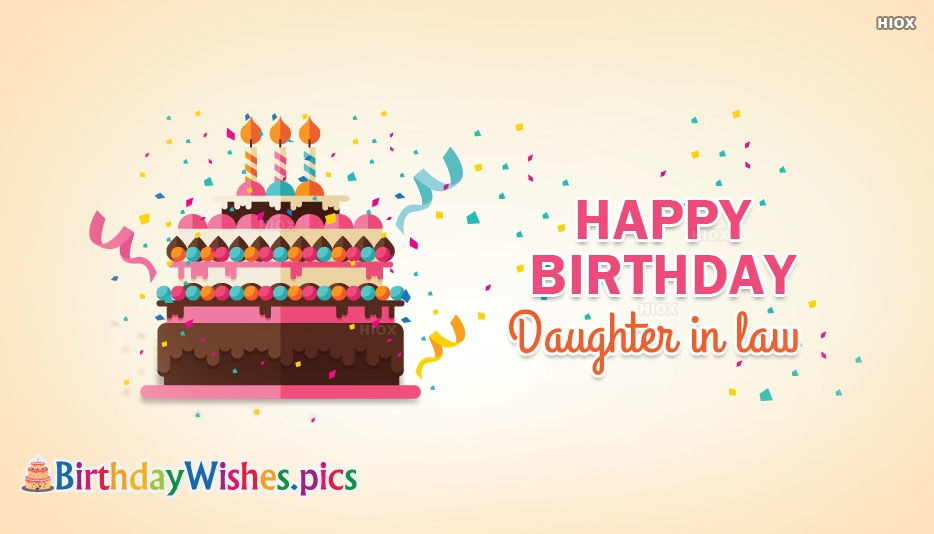 Happy Birthday To Daughter In Law