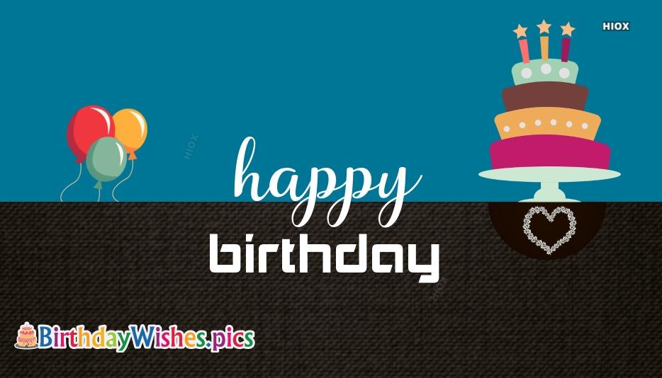 Happy Birthday To Dear