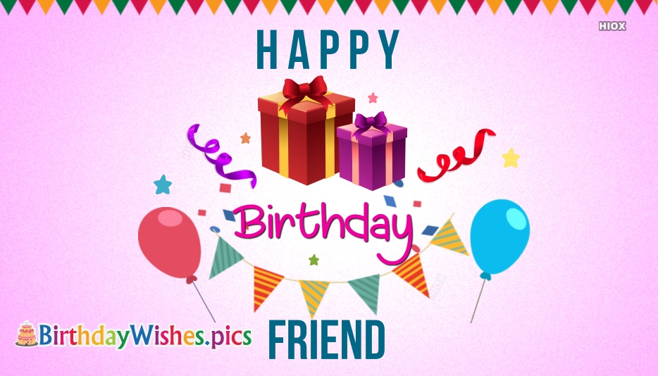 Happy Birthday To Friend Image