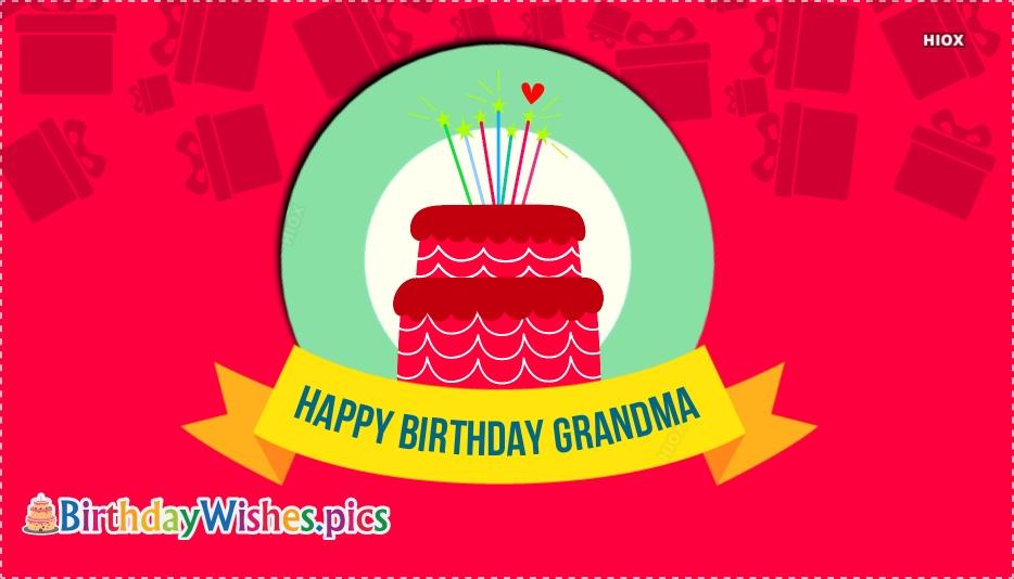 Happy Birthday Wishes To Grandmother