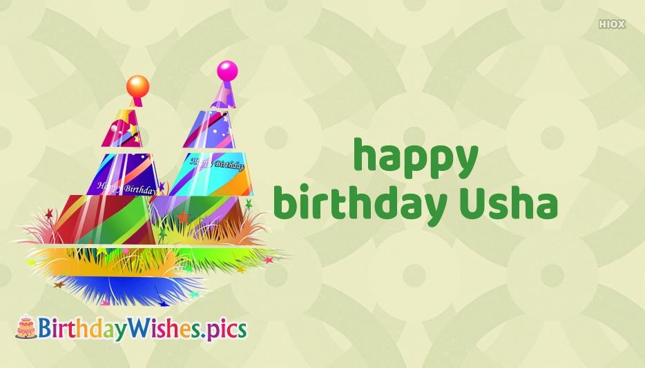 Happy Birthday Usha