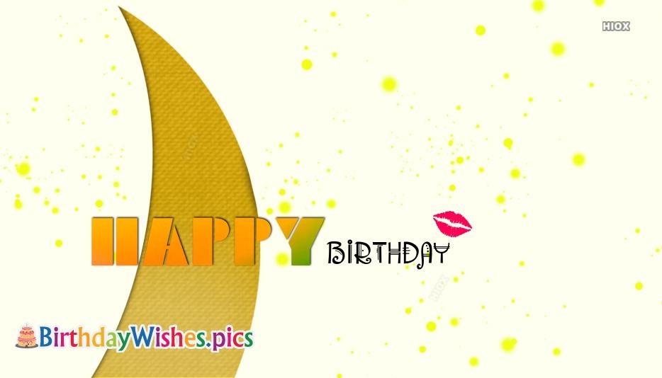 Happy Birthday Kiss Images