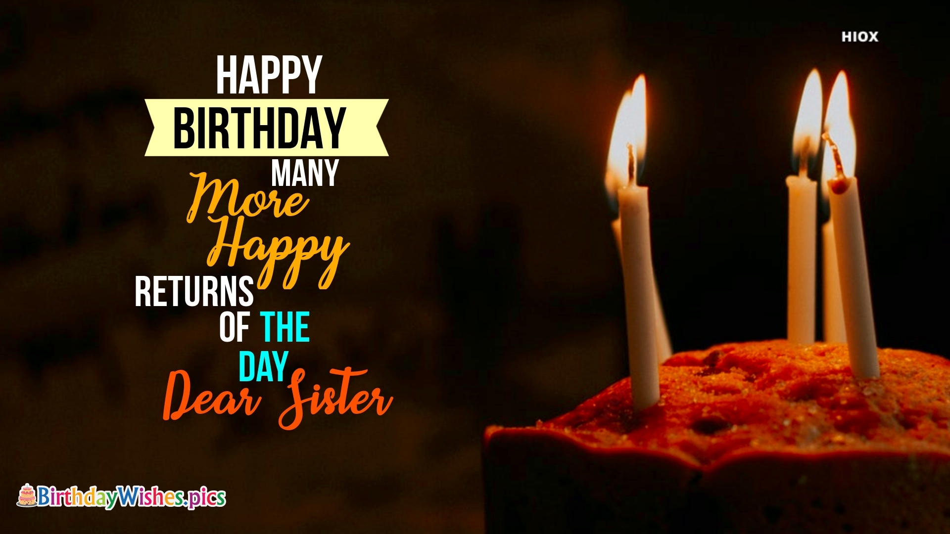Many More Happy Returns Of The Day Sister