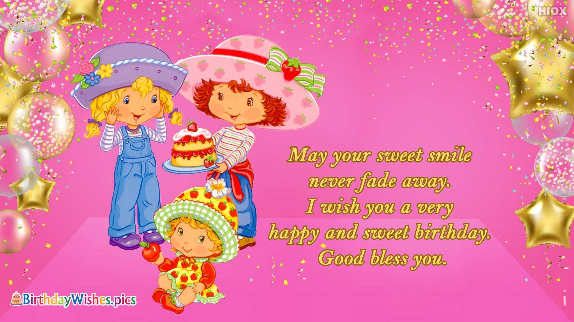 Wish You A Very Happy And Sweet Birthday. Good Bless You.