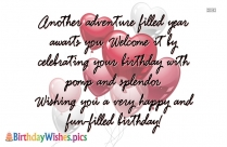 Birthday Quote | Count Your Life By Smiles Not Fears, Count Your Age By Friends