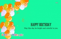 Colorful Happy Birthday Images