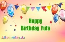 Birthday Wishes For Fufa
