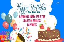 Happy Birthday Greetings Note