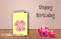 Birthday Wishes With Flower Images